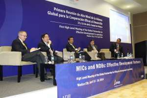 ADB Vice-President Wencai Zhang participating in the first GPEDC high-level meeting in Mexico City in 2014.